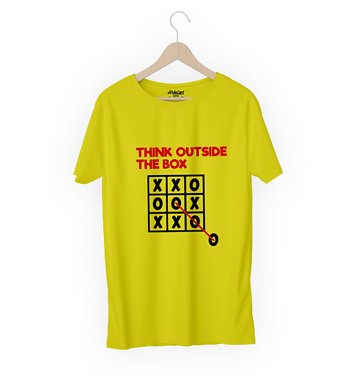Think Outside The Box Half Sleeves Round Neck 100% Cotton Tees