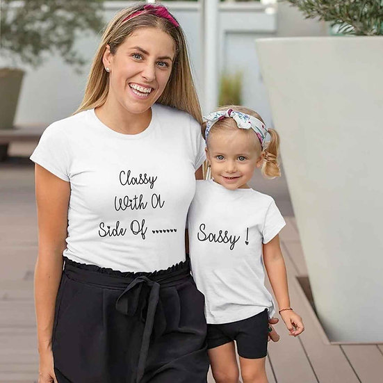 Classy With A Side Of Sassy (Combo of 2 T-shirts)