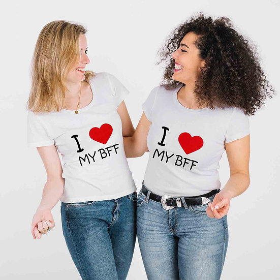 I Love My BFF  (Combo of 2 T-shirts)