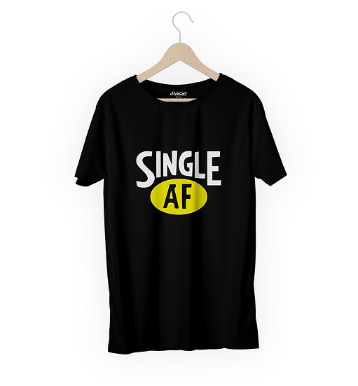 Single AF Half Sleeves Round Neck 100% Cotton Tees