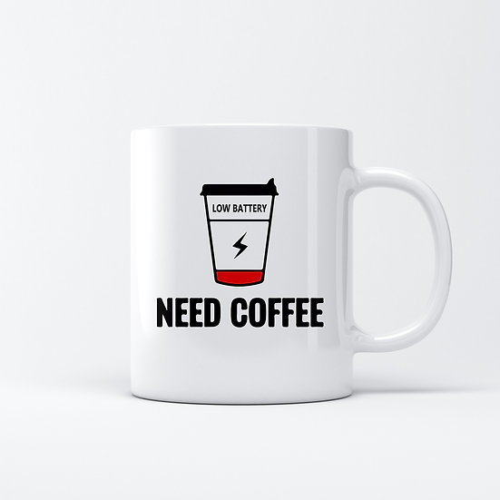 Low Battery Need Coffee