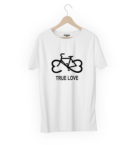 Cycle True Love Half Sleeves Round Neck Unisex 100% Cotton T-shirt
