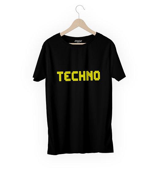 Techno Half Sleeves Round Neck 100% Cotton Tees