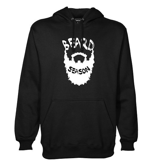 Beard Season Printed Designed Cotton Hoodie or Sweatshirts for Men
