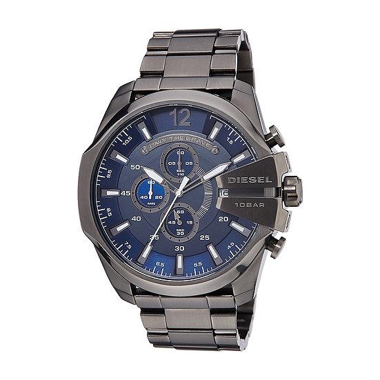 Diesel Mega Chief Analog Blue Dial Men's Watch - DZ4329