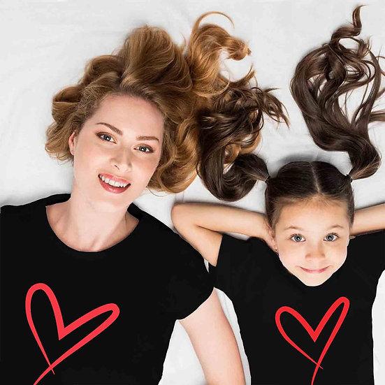 Heart (Combo of 2 T-shirts)