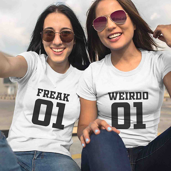 Freak And Weirdo (Combo of 2 T-shirts)