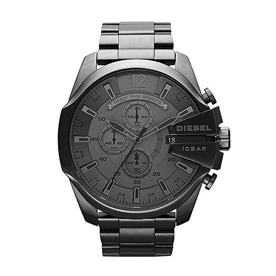 Diesel Mega Chief Analog Grey Dial Men's Watch - DZ4282