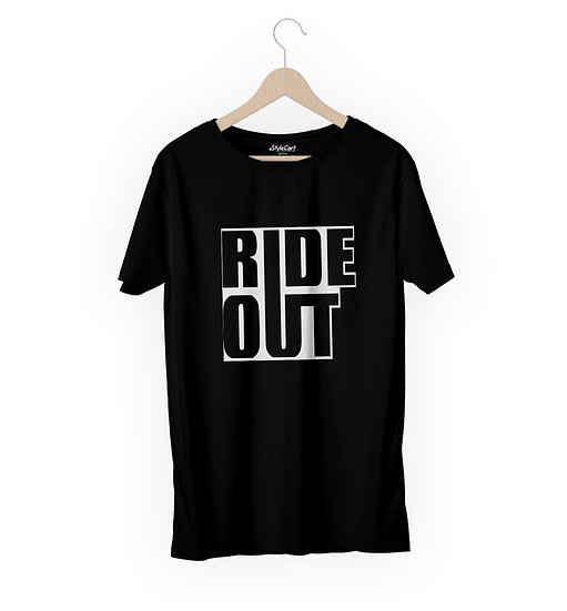 Ride Out Half Sleeves Round Neck Unisex 100% Cotton T-shirt