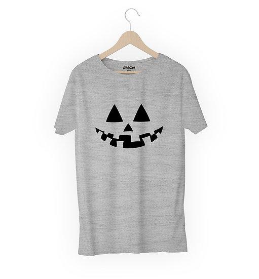 Pumpkin Face Half Sleeves Round Neck 100% Cotton Tees