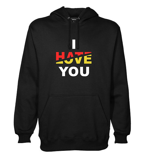 I Hate Love You Printed Designed Cotton Hoodie or Sweatshirts for Men