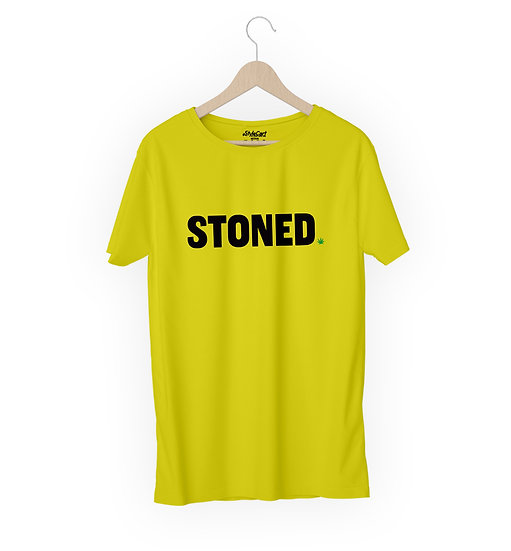 Stoned New Half Sleeves Round Neck 100% Cotton Tees