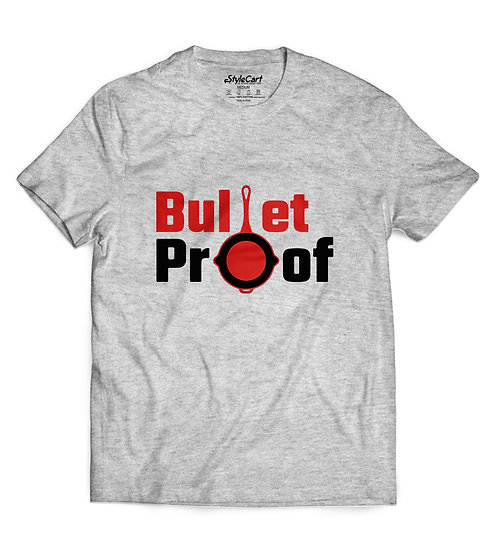 Bullet Proof Half Sleeves Round Neck 100% Cotton Tees
