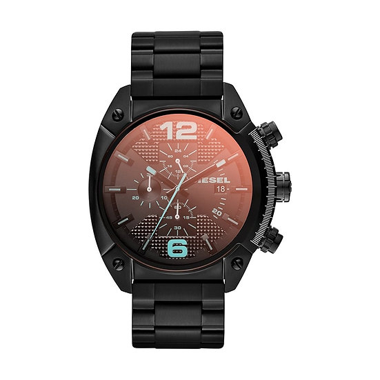 Diesel Mega Chief Analog Black Dial Men's Watch - DZ4316
