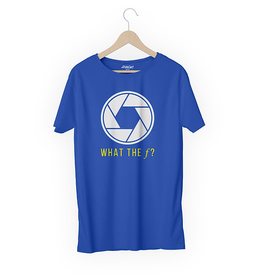 What The F Half Sleeves Round Neck 100% Cotton Tees