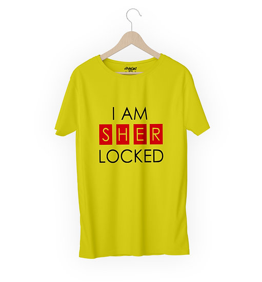 I Am Sher Locked Half Sleeves Round Neck 100% Cotton Tees
