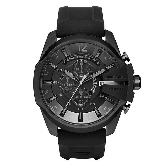 Diesel Mega Chief Analog Black Dial Men's Watch - DZ4378