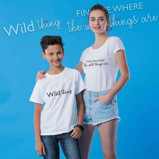 Find Me Where The Wild Things Are And Wild Things (Combo of 2 T-shirts)