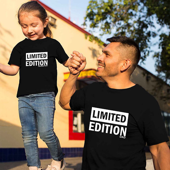 Limited Edition Dad And Limited Edition Daughter (Combo of 2 T-shirts)