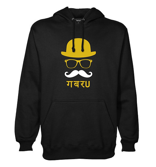 Gabru Printed Designed Cotton Hoodie or Sweatshirts for Men