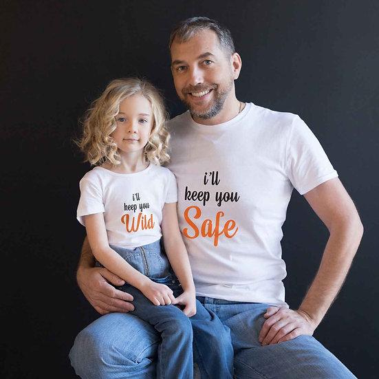 I'll keep You Safe & I'll Keep You Wild (Combo of 2 T-shirts)