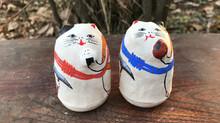 竹内洋岳さんとのコラボ起き上がり・山登り猫