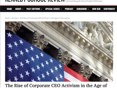 The Rise of Corporate CEO Activism in the Age of Information - Lisa Hogan
