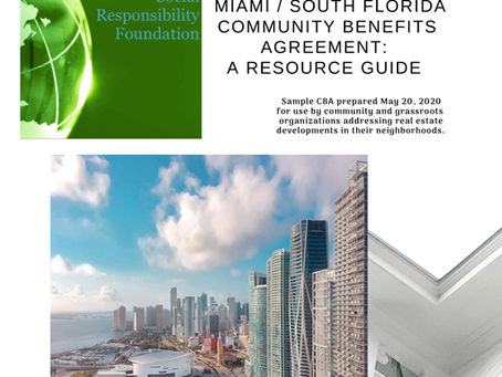 A Model Miami / South Florida Community Benefits Agreement: A Resource Guide