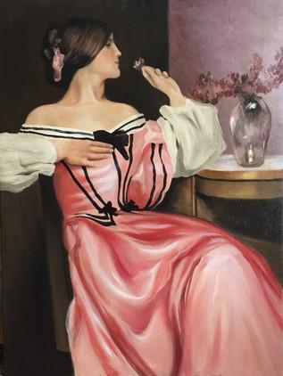 Pink lady portrait 3'