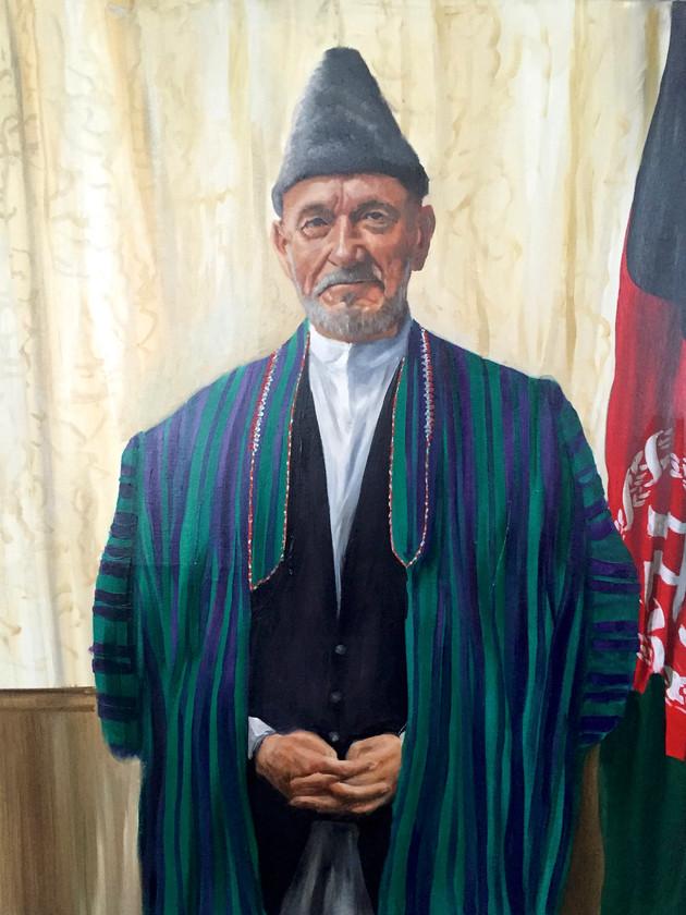 Ben Kingsley, as President Karzai for War Machine, 2017