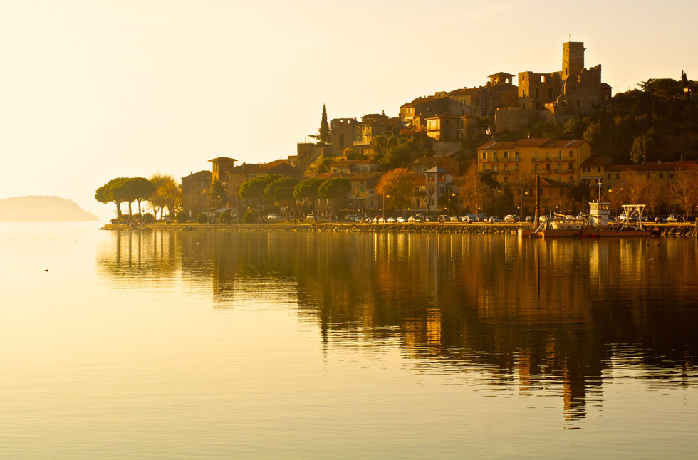 Beautiful landscape of Italy - Trasimeno Lake