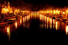 Amsterdam - photo lights by night
