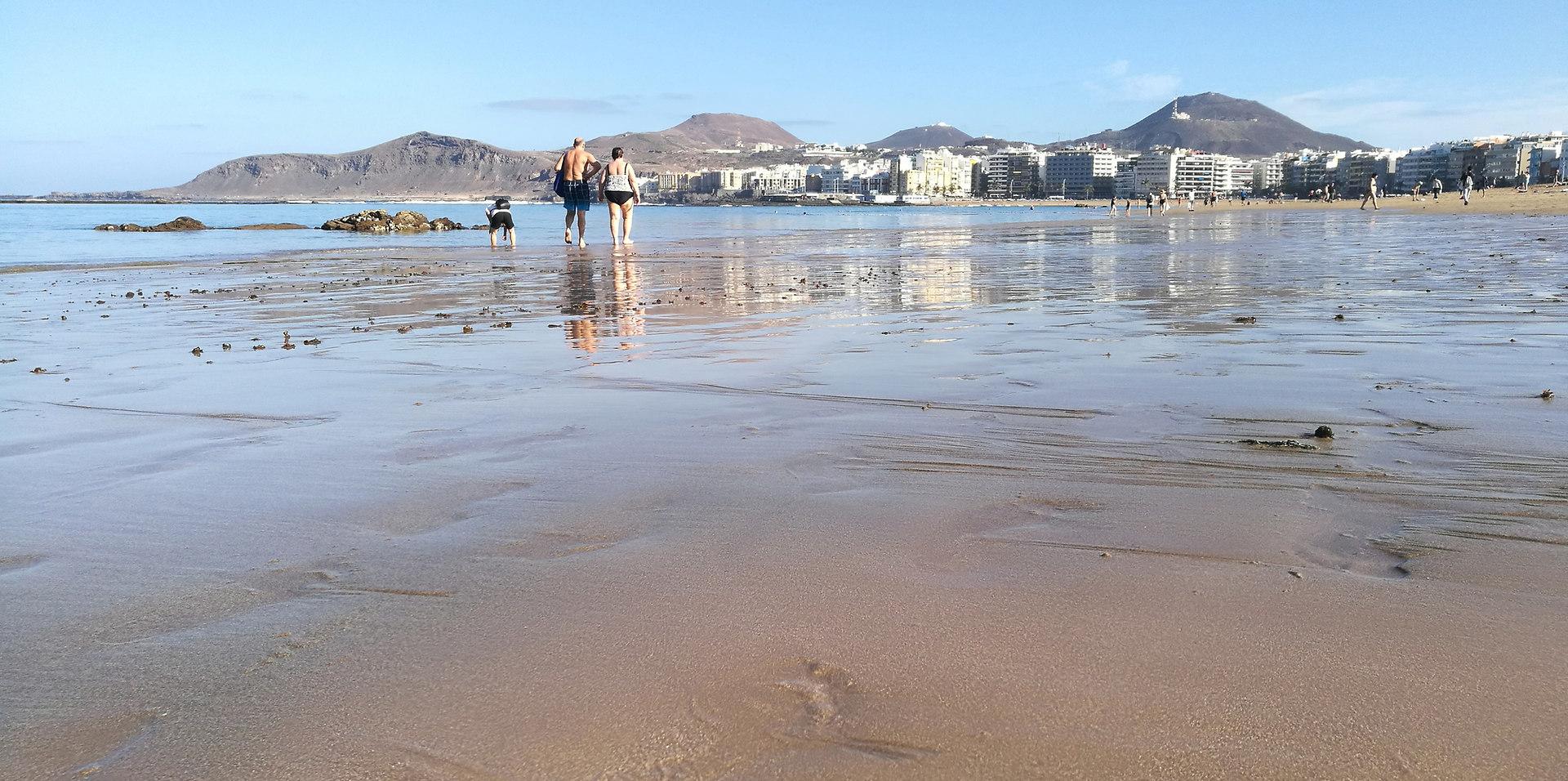 Las Palmas of Gran Canaria beach