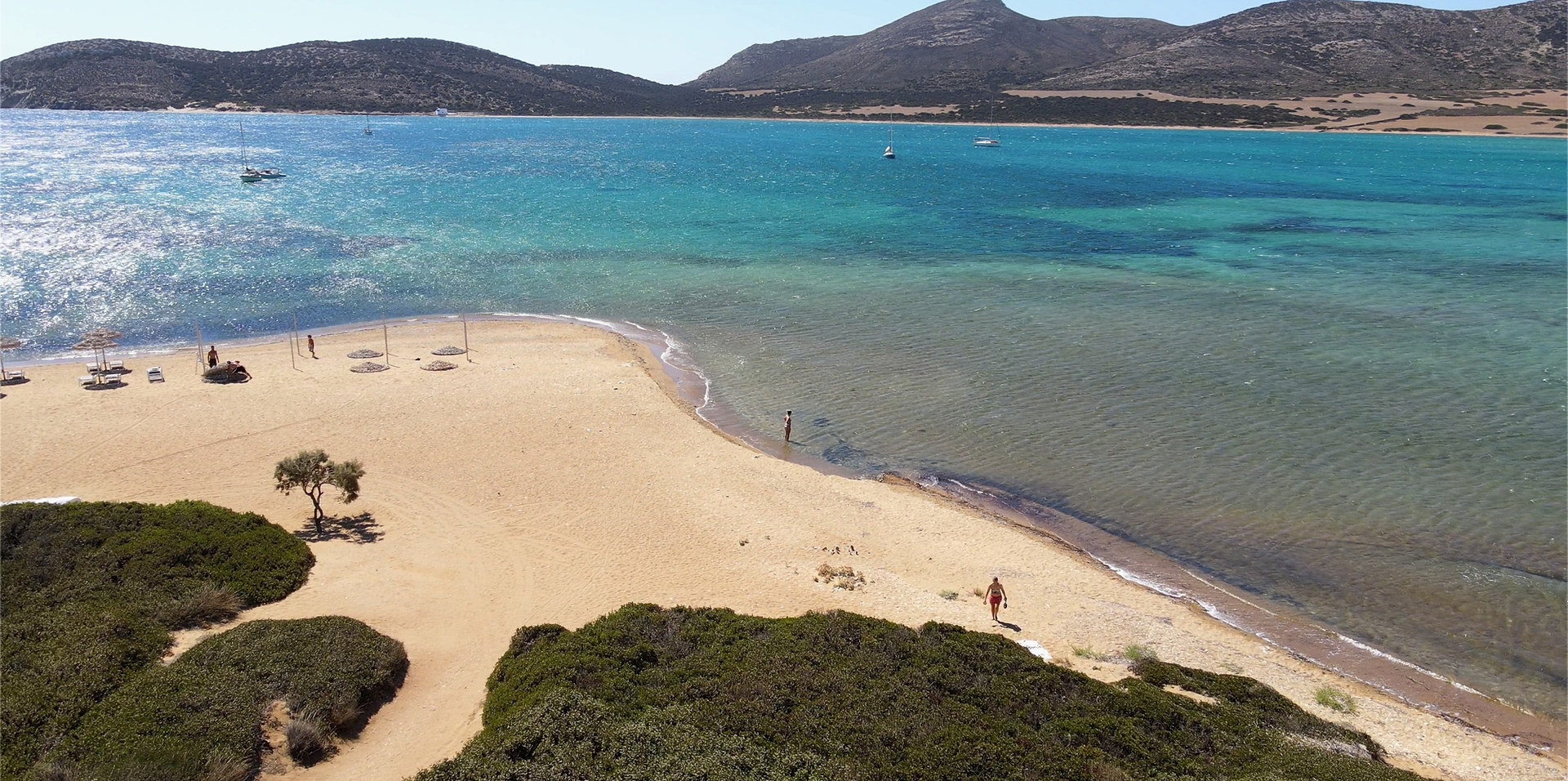 Drone photography sea view in Greece - Antiparos Cyclades Islands
