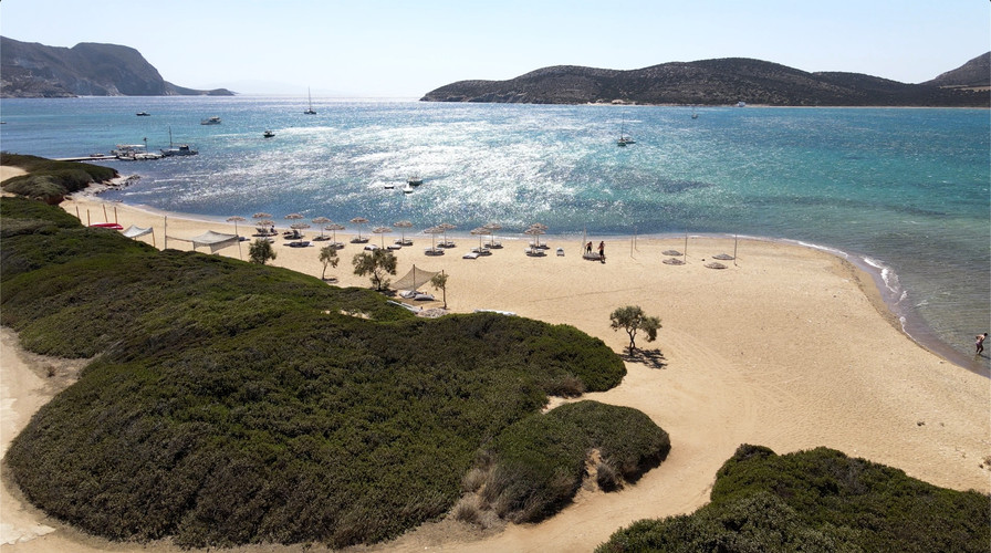 Drone images in Antiparos - Cyclades islands