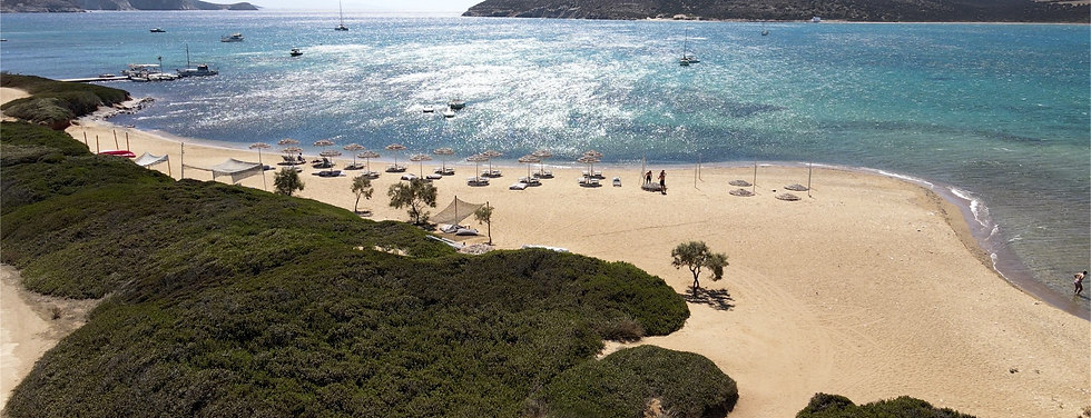 Drone photography in Antiparos - Cyclades islands