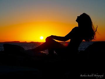 Be myself at sunset