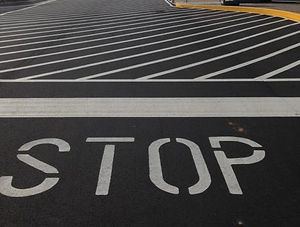 Parking Lot Striping Stop Bar