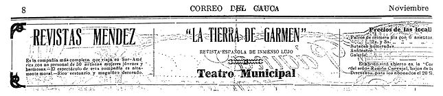 Teatro municipal, correo del Cauca