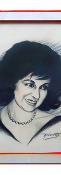 Retrato de Sofía de Moreno pintado por Navarrete.