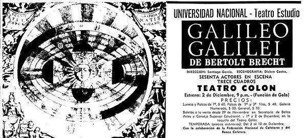 teatro colombiano, galileo galilei, brecht, santiago garcia,