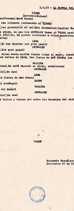Diferentes páginas de la obra. Copias mecanográficas. Colección ICC – Biblioteca José Manuel Rivas Sacconi.