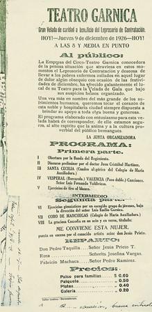 1926. Función en el Teatro Garnica de Bucaramanga. (Archivo de B. Rugeles).