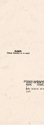 """Copias mecanográficas de las primeras páginas de la segunda versión de """"El globo. Farsa familiar en un acto"""". Colección ICC – Biblioteca José Manuel Rivas Sacconi."""