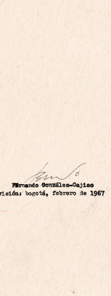"""Última página de """"El globo"""", con la firma del autor."""