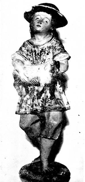 Figuras del pesebre. Tomada de: Hojas de Cultura Popular Colombiana (Bogotá), núm. 12, dic. 1951. Ministerio de Educación Nacional.