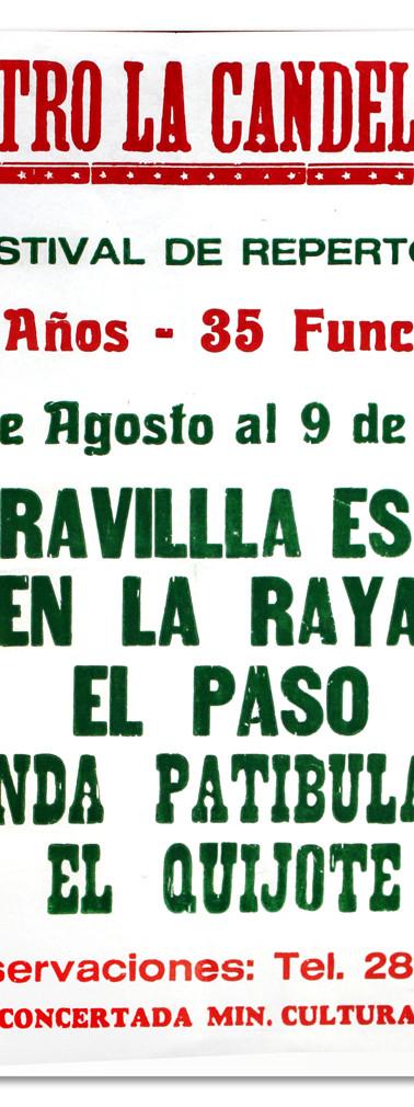 Teatro La Candelaria. Bogotá. Temporada de repertorio. (Centro de Documentación del teatro)