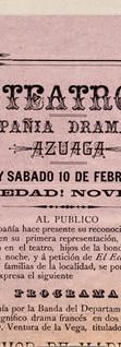 1894. Fragmento de una función de la Compañía Azuaga (cubana) en Bucaramanga.