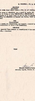 Copias mecanográficas de la primera y última páginas de la obra. Colección ICC – Biblioteca José Manuel Rivas Sacconi.
