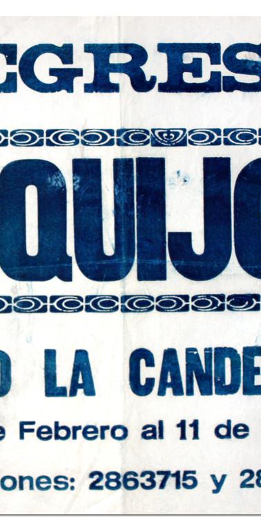 Función de El Quijote Teatro La Candelaria. (Centro de Documentación del teatro).